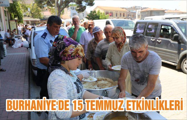 BURHANİYE'DE 15 TEMMUZ ETKİNLİKLERİ