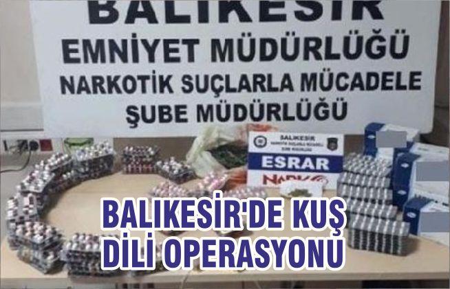 BALIKESİR'DE KUŞ DİLİ OPERASYONU