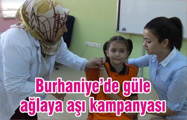 Burhaniye'de güle ağlaya aşı kampanyası