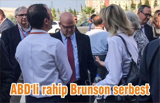 ABD'li rahip Brunson serbest