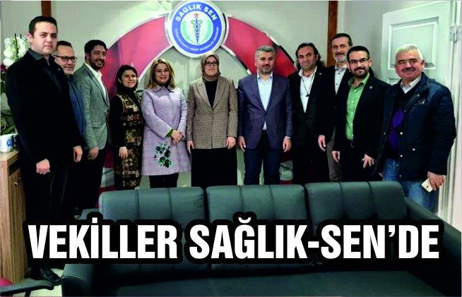 AK Partili vekillerden Sağlık Sen'e ziyaret