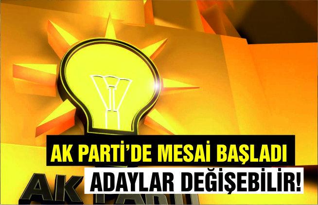 AK PARTİ'DE MESAİ BAŞLADI